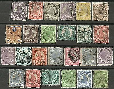 QUEENSLAND Collection 25 Different COLONIES STATES Stamps Used condition(Lot 2)