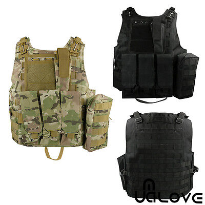 NEW Adjustable Tactical Vest Army Paintball Airsoft Combat Assault Military Vest