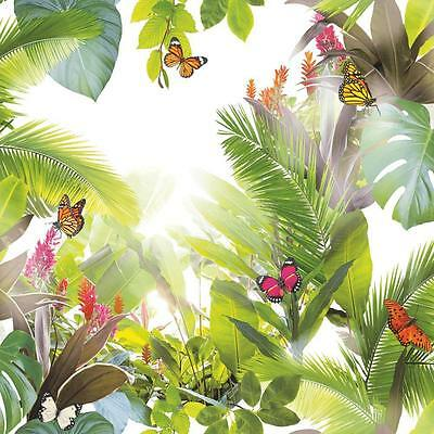 Arthouse Amazonia Butterfly Wallpaper Forest Leaf Motif Modern Embossed 690300