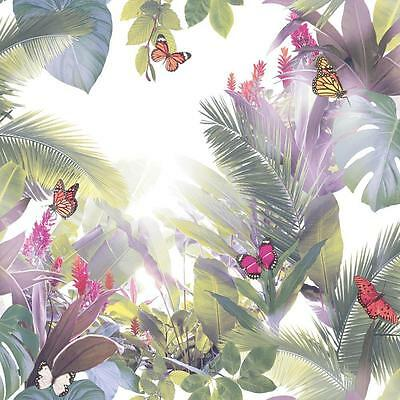 Arthouse Amazonia Butterfly Wallpaper Forest Leaf Motif Modern Embossed 690301