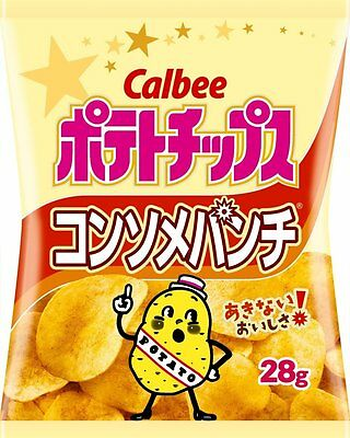 Calbee fried potato chips Consomme punch 28g Japan for beer