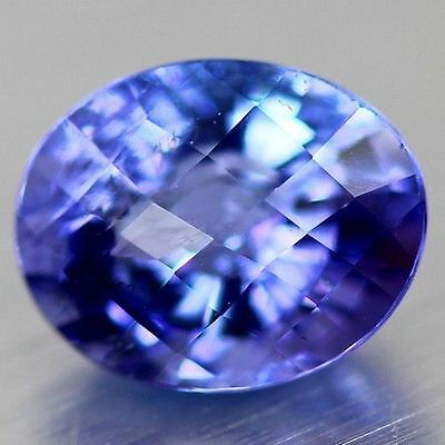 1.060Ct Aaa  Exquisite Stunning Blue Tanzanite Brilliant Amazing Wow Oval  Cut