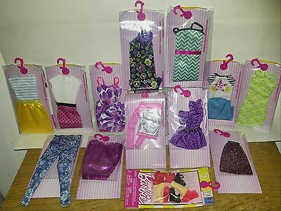 """Barbie """"FASHION'S Singles & SHOE Acesry"""" 13-Pack Mixed Lot: NEW, LOW$$,FREE SHIP"""