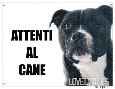 PITBULL attenti al cane mod 2 TARGA cartello CANE IN METALLO
