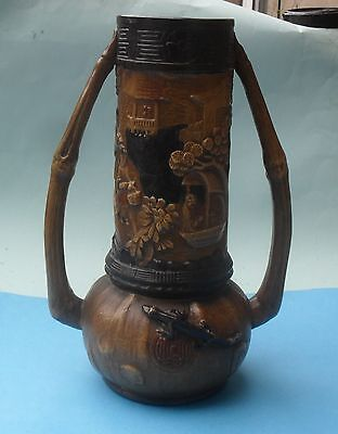 Well Detail Bretby Art Pottery Two Handled Oriental Vase