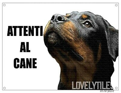ROTTWEILER attenti al cane mod 2 TARGA cartello CANE IN METALLO