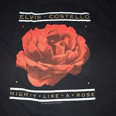 Elvis Costello Mighty like a rose 1991 Tour T-shirt