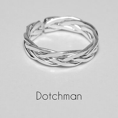 925 Sterling Silver Diana Intertwined Toe Ring