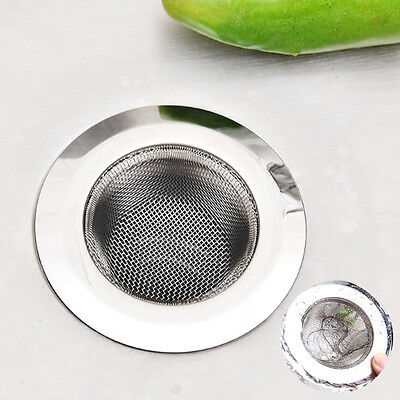 Hair Catcher Stopper Shower Drain Hole Filter Strainer Stainless Steel Bathtub