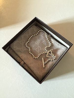 Pendentif ARGENT GUCCI COEUR. Beautiful SILVER NECKLACE. HEART