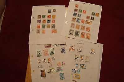 Argentina stamps, selling old collection of 108 stamps, see scans