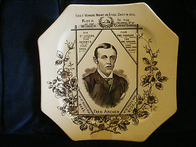 Superb Jockey Fred Archer late 1800s Octagonal Plate