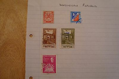 Dominican Republic stamps, selling old collection of 5 stamps, see scans