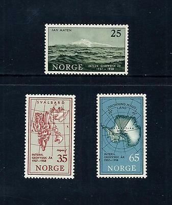 NORWAY _ 1957 'GEOPHYSICAL' SET of 3 _ mlh ____(467)