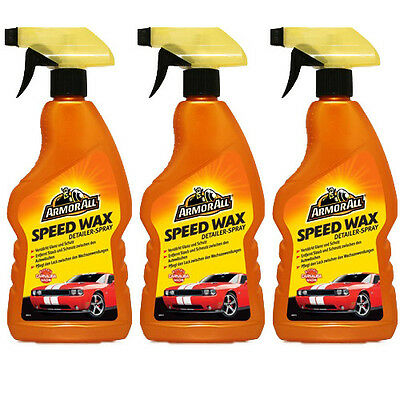 3x ARMOR ALL Speed Wax Spray Politur & Wachs 500 ml