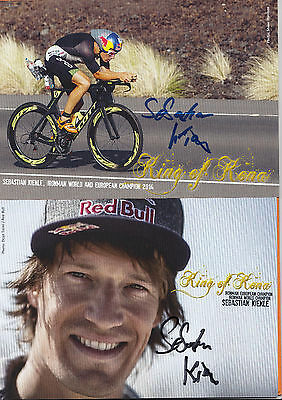 SEBASTIAN KIENLE-2014 IRONMAN WORLD und EUROPEAN CHAMPION-2 original Autogramme-