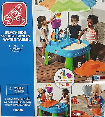 STEP2 Step 2 776800 Beachside Sand Pit Water Table Outdoor Toys BNIB