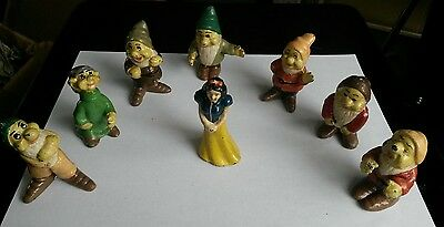 Vintage lead made rare Snow white and the seven dwarfs Disney Characters