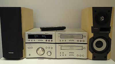 Technics SC-CH510 HiFi Component System Amp,Tuner,Cd,Tape +Speakers + Bluetooth