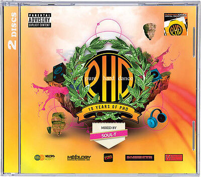 Soul-T ‎– Pure Hard Dance 10 Years Of PHD - Hardstyle 2xCD New  - (Box C148)
