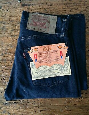 levis 501 shrink to fit 80's nos