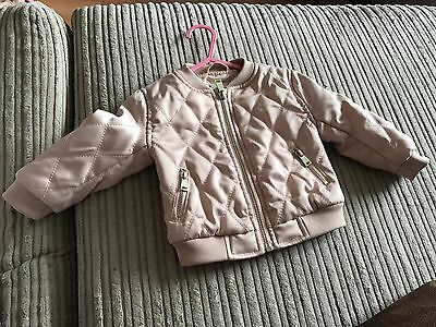 River Island Baby Girl Bomber Jacket 3-6 Months