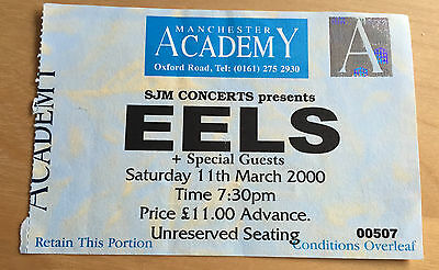 eels - Ticket Stub : Manchester Academy, England 11th March 2000