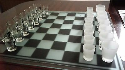 A drinking chess set from the gadget shop
