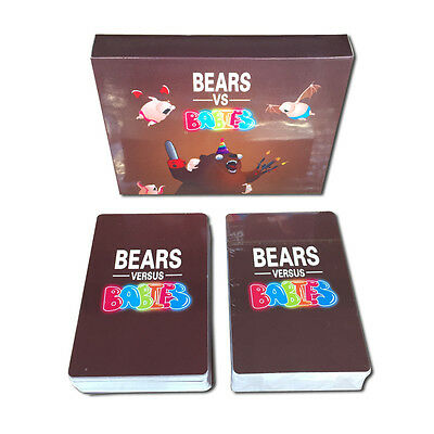 Card Games about Bears vs Babies Card game monster creators Toys For kids adults
