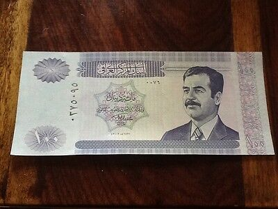 Old Iraqi 100 Dinar Bank Note.