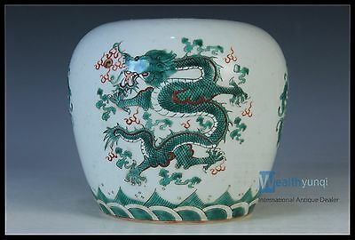 Rare beautiful chinese Famille Rose Porcelain Dragon Pot