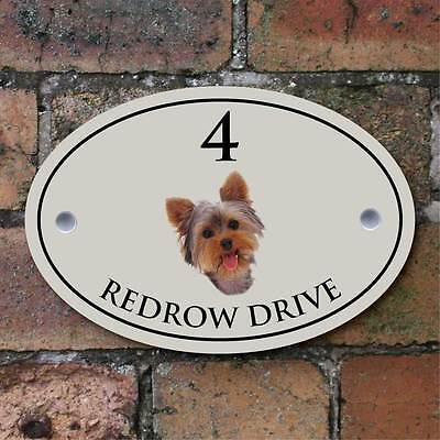 Yorkshire Terrier House Sign, Dog Number Plaque, Dog House Sign,  Many Colours