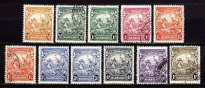 Barbados Stamps. KGVI 1938 Badge of Colony Issues. Used & MH. #3143