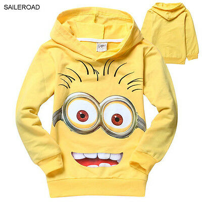 Despicable Me 2 Minion Kid Child Teen Sweater Jumper Pullover Movie Cute Sweet
