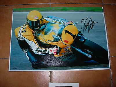 limited edition photo of king kenny, ( kenny roberts ) signed by him, with c.o.a