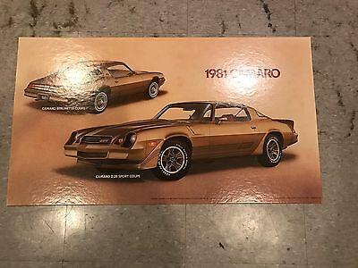 Vintage 1981 Camaro Dealer Car Poster or Sign Chevrolet Chevy Z28
