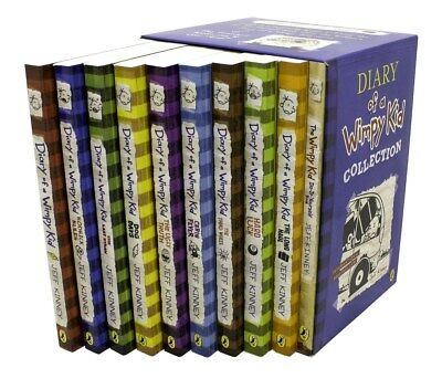 Diary of a Wimpy Kid 10 Books Box Set Collection (RRP: £69.90)