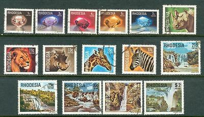 Rhodesia 1978 Definitive Set of 15 Nicely Used