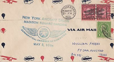 USA 1930 First Flight Airmail Cover From Aeronautical Chamber of Commerce