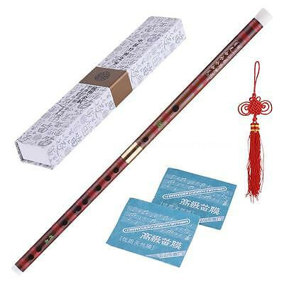 Black Bamboo Flute Dizi Traditional Handmade Chinese Musical Instrument K3O6