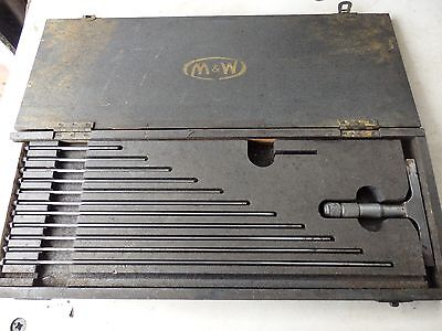 "Moore & Wright 0 to 12"" depth micrometer"