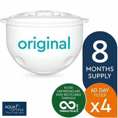 4 x Aqua Optima Double-Life 60-Day Water Jug Refill Filters - 8 Months Supply