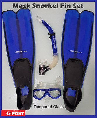 Professional  Goggle Mask Snorkel Fin Set New