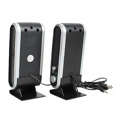 USB Powered Speakers Multimedia Stereo System For TV Laptop PC Computer