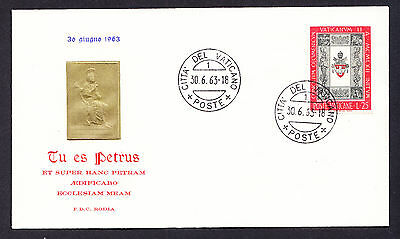 Vaticane stamp on 1963 Cover Vatican Cover Italy Latin inscription Religious