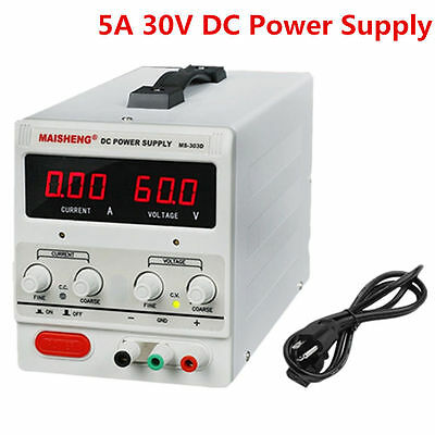Digital DC Power Supply 30V 10A 5A Precision Variable Adjustable Lab Grade New T