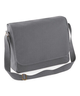 Bagbase Classic 100% Cotton Canvas Messenger Bag Padded & Lined (BG651)