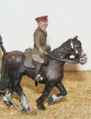 Langley Models Mounted Officer OO Scale Metal Model PAINTED F50p
