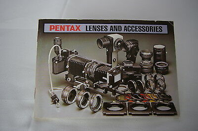 Vintage Pentax Lenses And Accessories Book / Manual