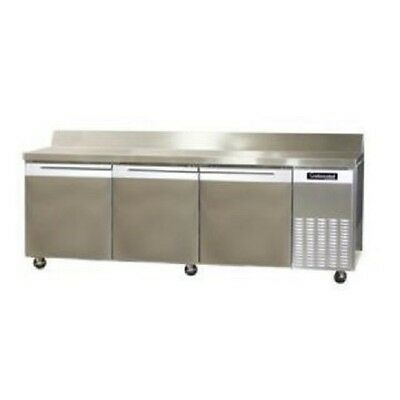Continental 3 Door Refrigerator CRB92-BS Refrigerated Sandwich Prep Table Unit